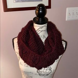 aerie deep purple knit scarf